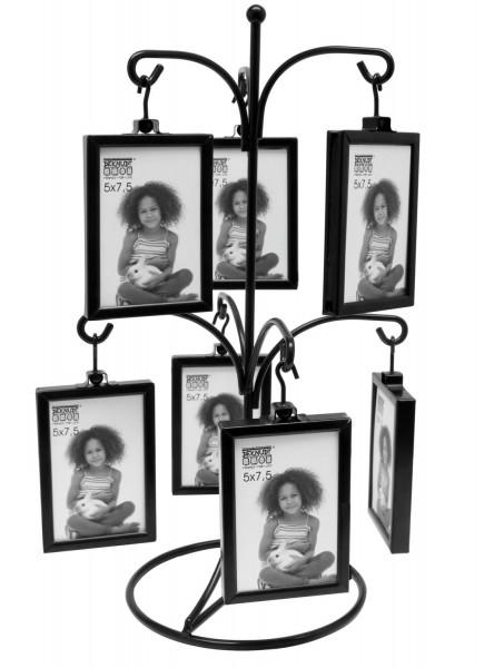 Metall Fotohänger in schwarz für 14 Fotos