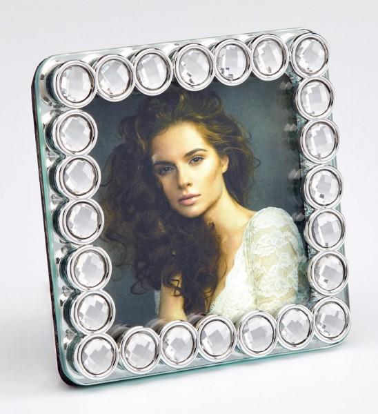 Glas Fotorahmen Perle quadratisch