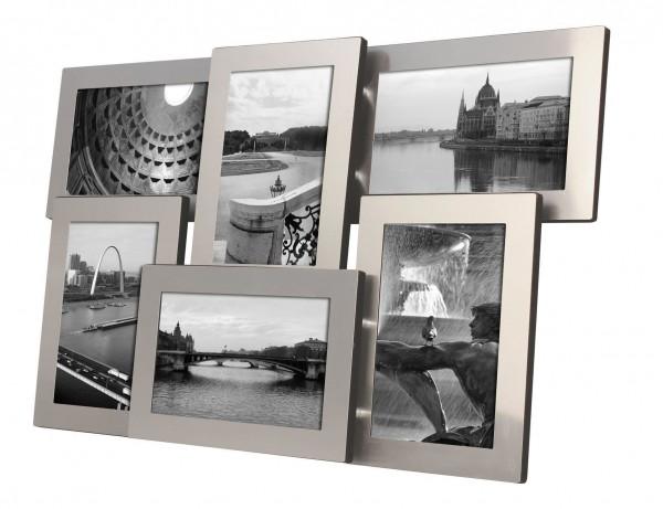 Galerierahmen Alu Collage L4 für 6 Fotos im Format 10x15 cm