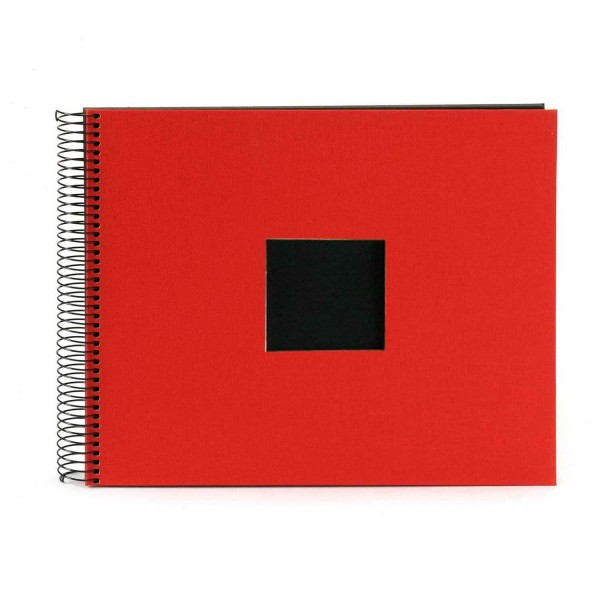 Spiralalbum rot mit schwarzen Seiten