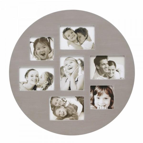 Collage Bilderrahmen Elise rund für 7 Fotos /Beige