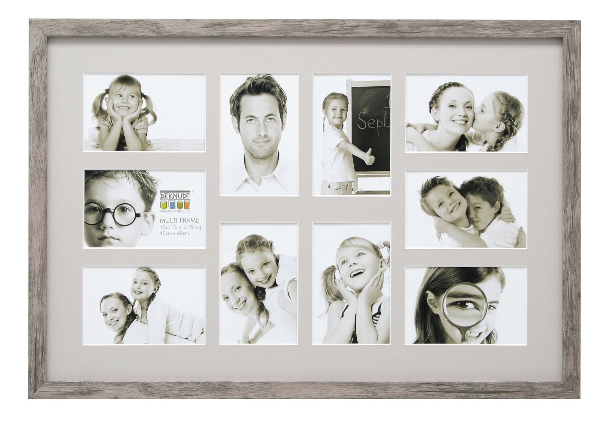 collage bilderrahmen lucas f r 10 bilder grau beige. Black Bedroom Furniture Sets. Home Design Ideas