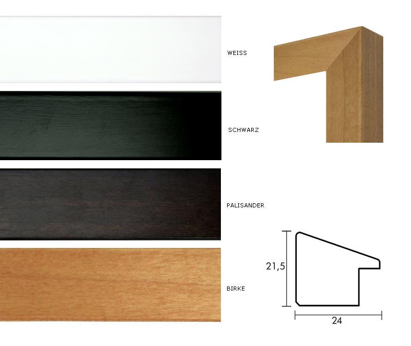 holz bilderrahmen profil top n mit passepartout. Black Bedroom Furniture Sets. Home Design Ideas