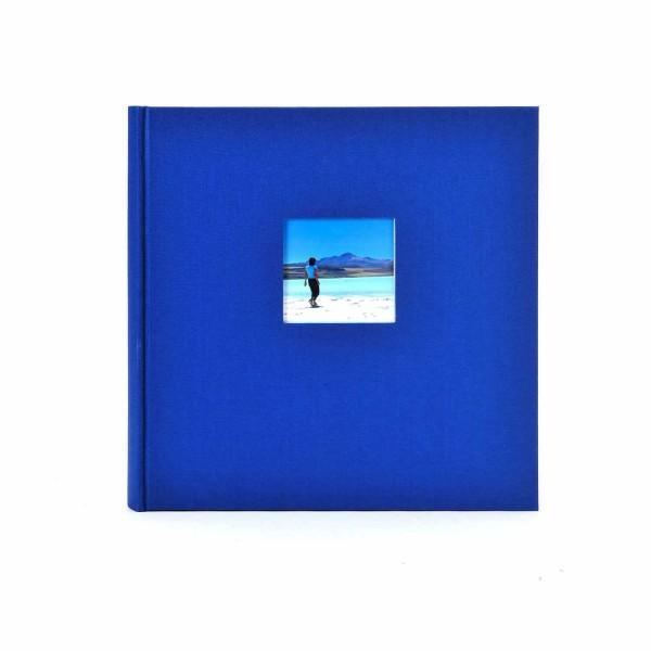 Fotoalbum Leinen Bella Vista blau