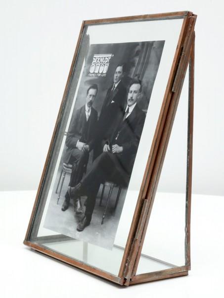 Fotorahmen Obsolet mit kupferfarbiger Kante aus Metall