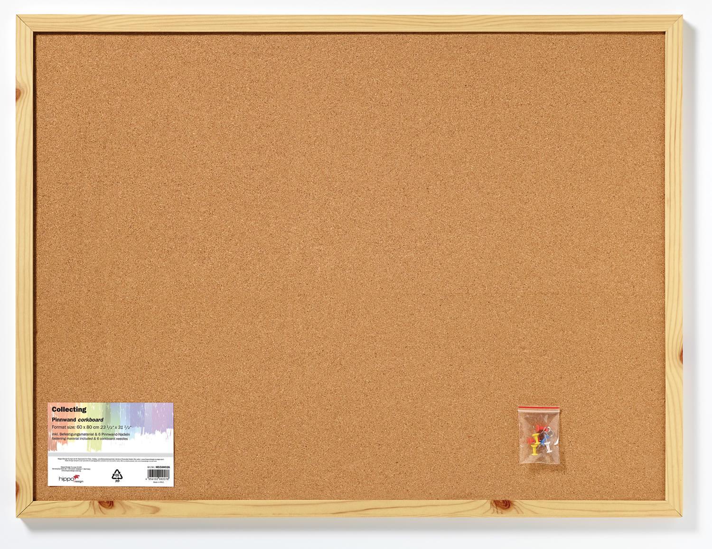 Memoboard Pinnwand, Kork, Holzrahmen natur 60x80 cm | Bilderrahmen ...