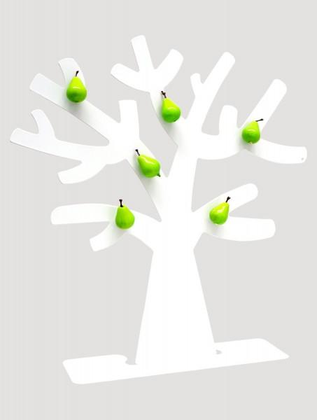 Metall Fotobaum in weiß mit 6 Birnen Magneten