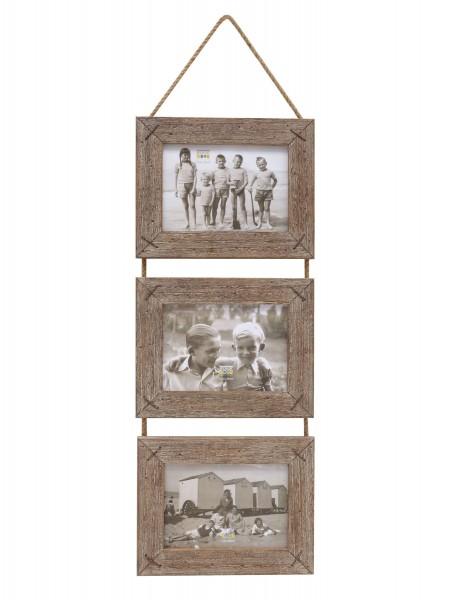 Galerierahmen Rustique aus Treibholz mit Kordelaufhängung