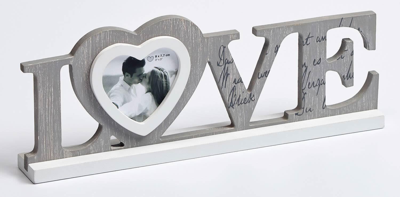 Holz Fotorahmen Love Schriftzug für 1 Foto