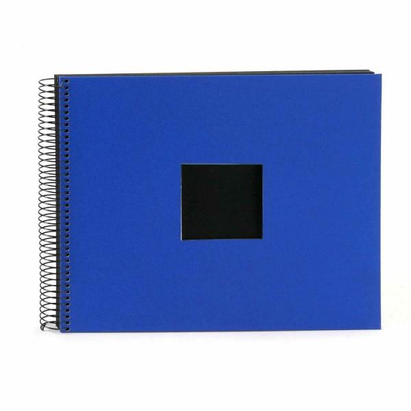 Spiralalbum blau mit schwarzen Seiten