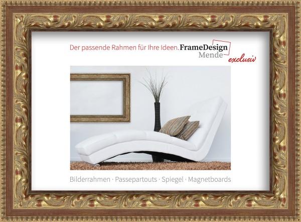Holz Bilderrahmen für Keilrahmen Cannes Profil E015 mit Metall-Laschen