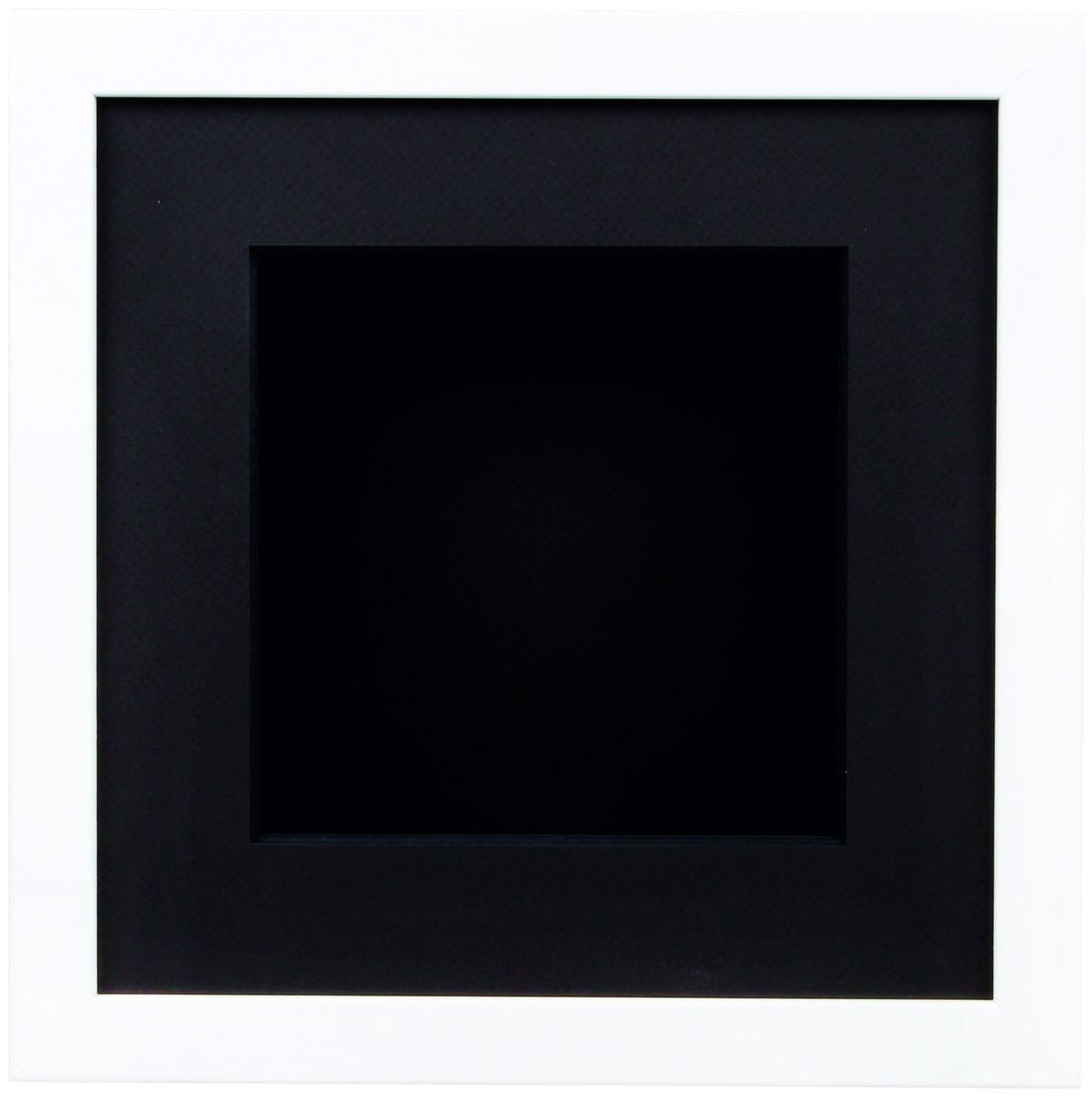 Rahmen Box mit Holzrahmen weiss und Kasten schwarz