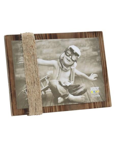Holz Bildhalter Austria mit Schnüre braun gemalt