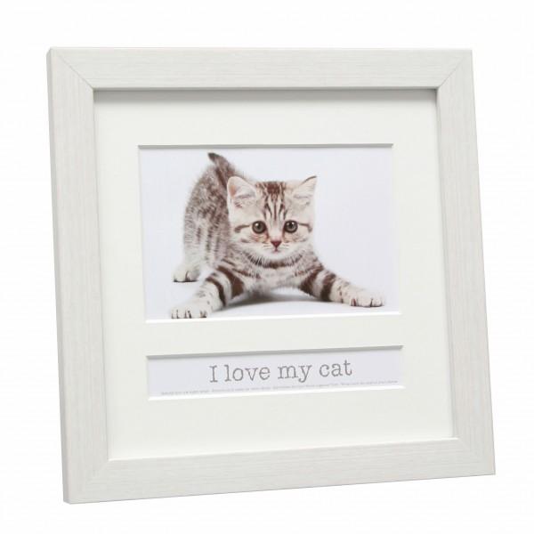 Bilderrahmen Cat mit Textfach / Weiss
