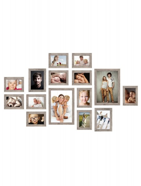 Bilderwand Lucas für 15 Bilder in Grau-Beige