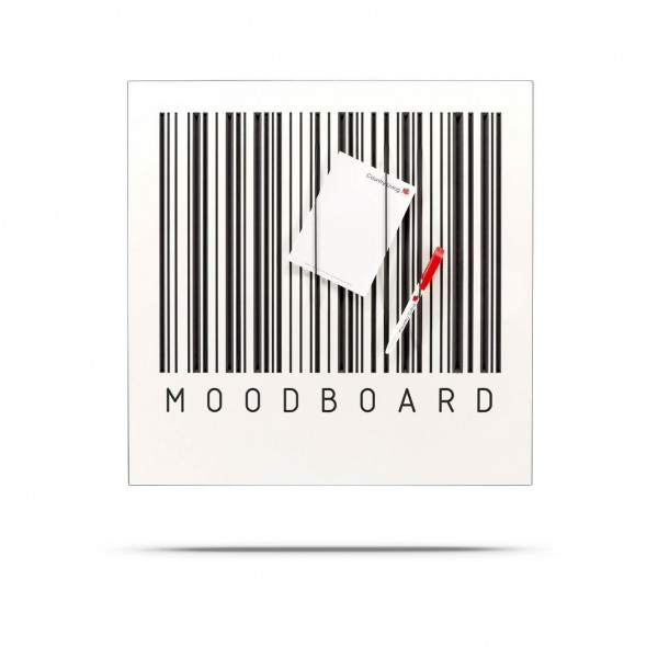 BARCODE Board - Klemmwand MOODBOARD, MDF mit Rundgummis 50x50 cm