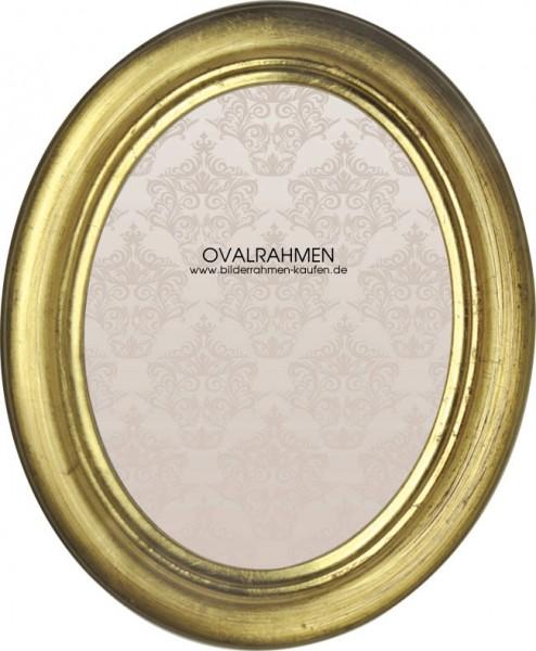 Oval Bilderrahmen Holz Profil 7R - gold