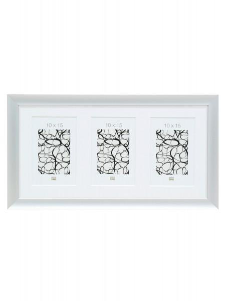 Aluminium Galerierahmen Silver für 3 Bilder inkl. Passepartout