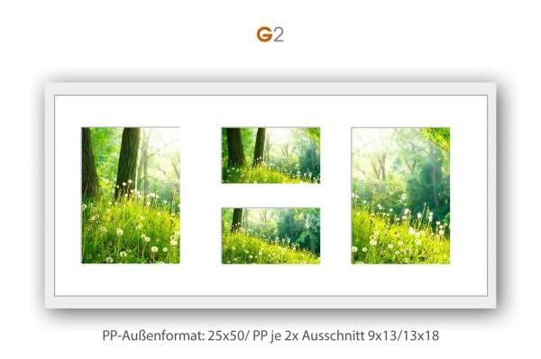 Galerie Passepartout G2 - 25x50/ PP je 2x 9x13/ 13x18 cm