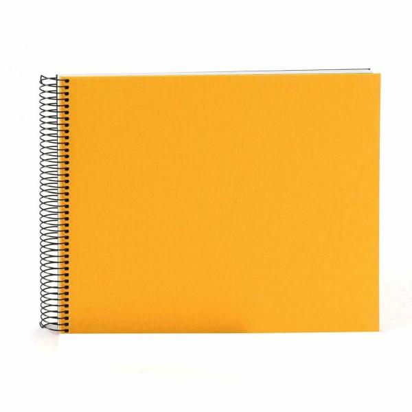 Spiralalbum gelb mit weißen Seiten