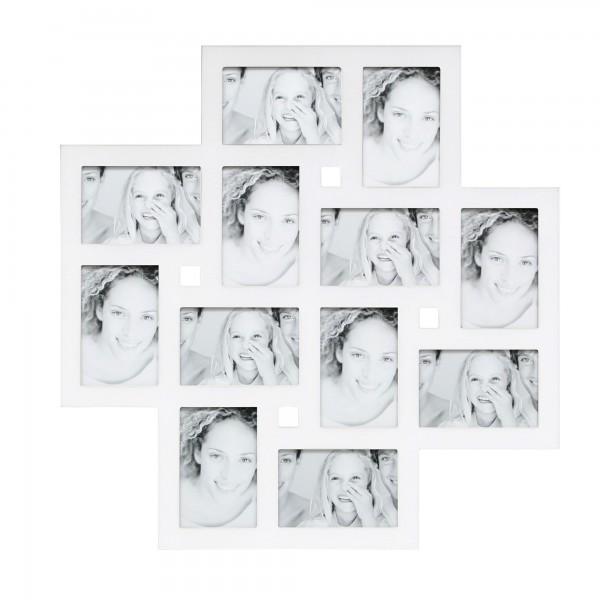 Collage Bilderrahmen Hanna für 12 Fotos / Weiss