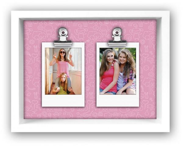 Holz Galerierahmen Funny für Polaroid Pink