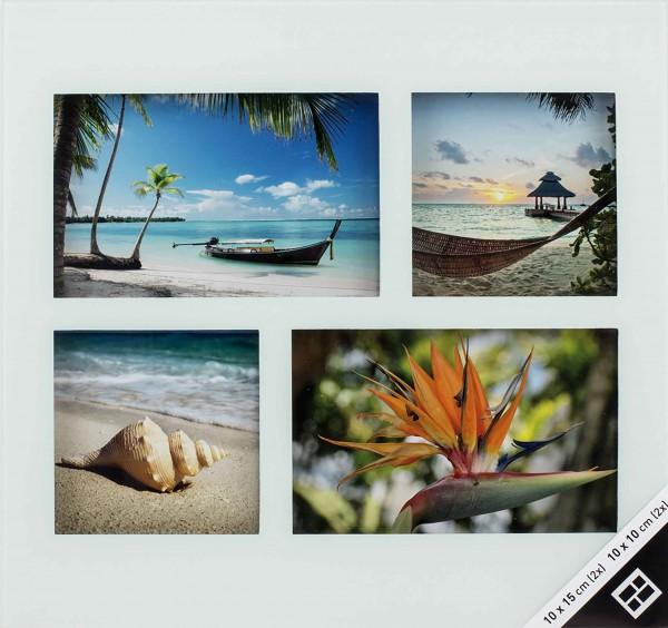 Collagerahmen Glas weiß für 4 Bilder