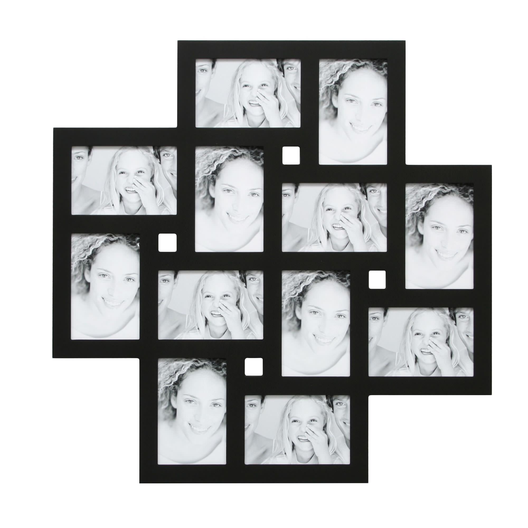 collage bilderrahmen hanna f r 12 fotos schwarz. Black Bedroom Furniture Sets. Home Design Ideas