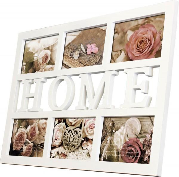 Galerierahmen Collage HOME für Format 6x 10x15 cm - weiss