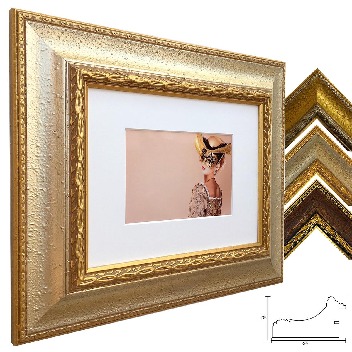 Holz Bilderrahmen Profil 31 mit Passepartout