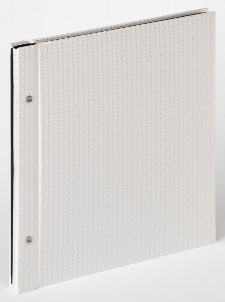 Buchschraubenalbum Sinfonia Glamour, weiß, 30x33 cm