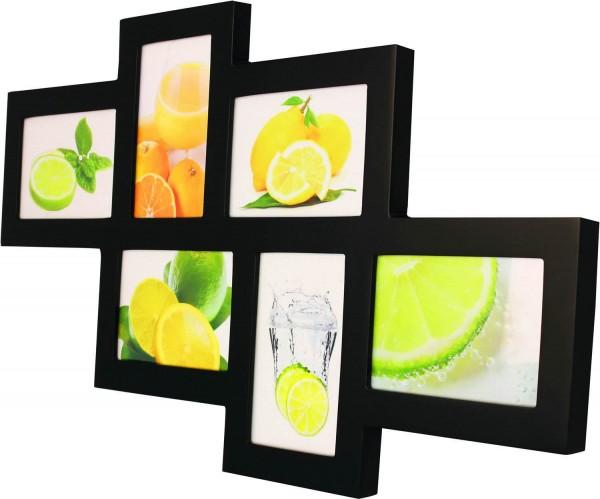 Galerierahmen Holz Fruits für 6 Fotos schwarz