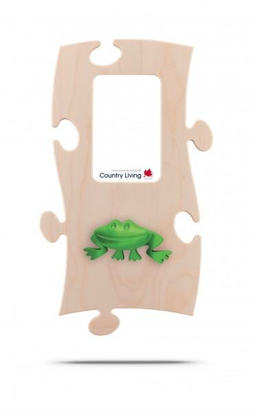 Puzzles+ Garderobe/ Rahmen Freddy Frosch/ 1 Foto 10x15 cm