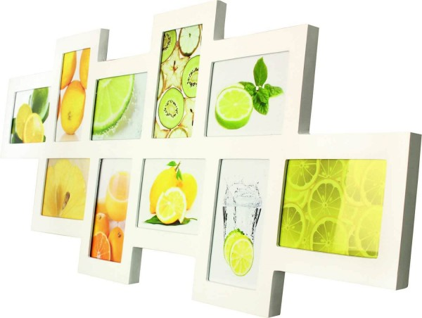 Galerierahmen Holz Fruits für 10 Fotos weiss
