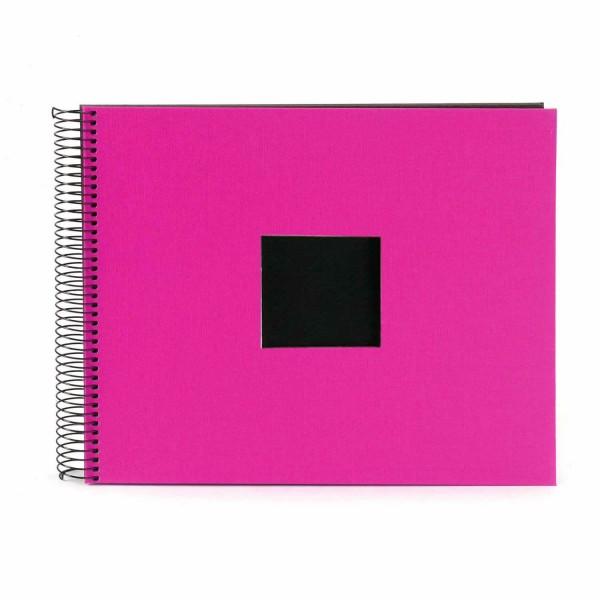 Spiralalbum pink mit schwarzen Seiten