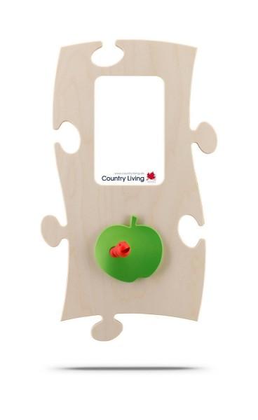 Puzzles+ Garderobe/ Rahmen Adams Apfel/ 1 Foto 10x15 cm
