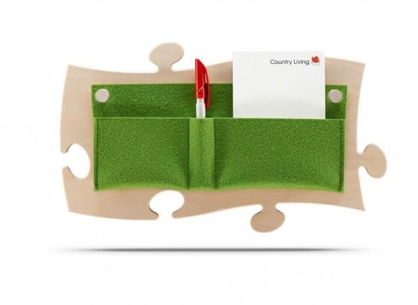 Puzzles+ mit Organizer, apfelgrüner Filz