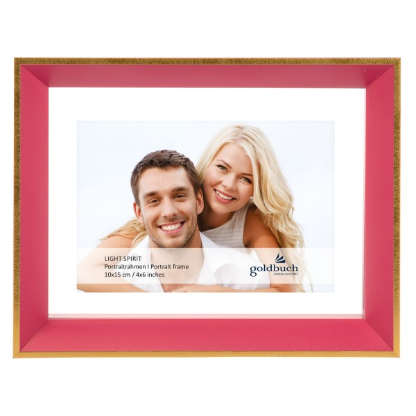 Fotorahmen Light Spirit - pink mit Goldkante