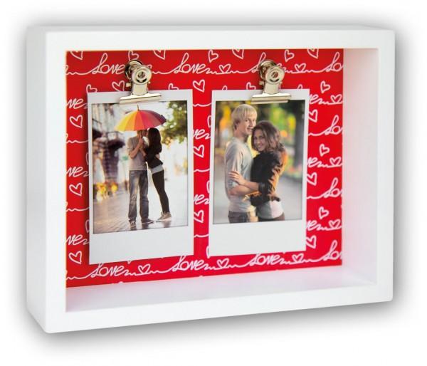 Holz Galerierahmen Funny für Polaroid Love