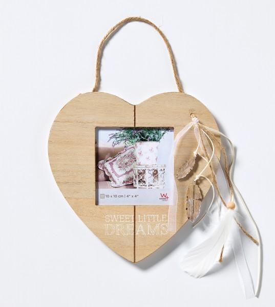 Holz Fotorahmen Naturalness mit Kordelaufhängung