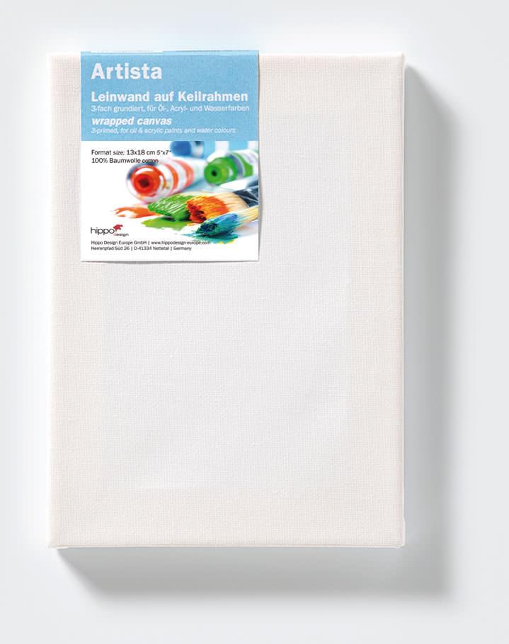 Keilrahmen Leinwand für Öl, Acryl und Wasserfarben 3 cm Stärke