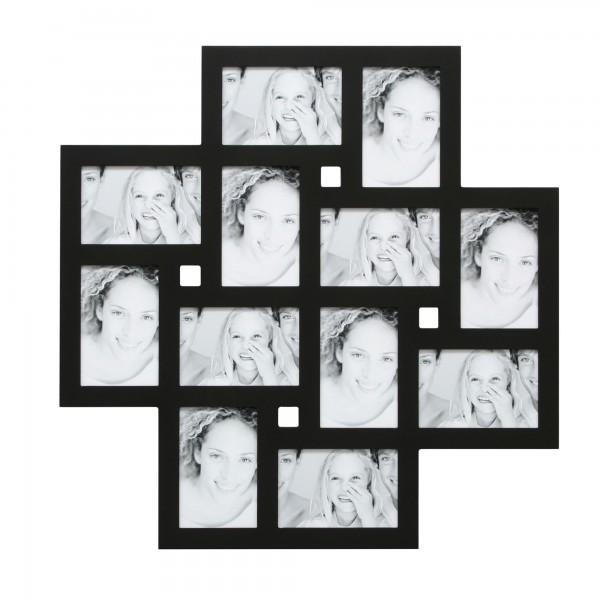 Collage Bilderrahmen Hanna für 12 Fotos / Schwarz