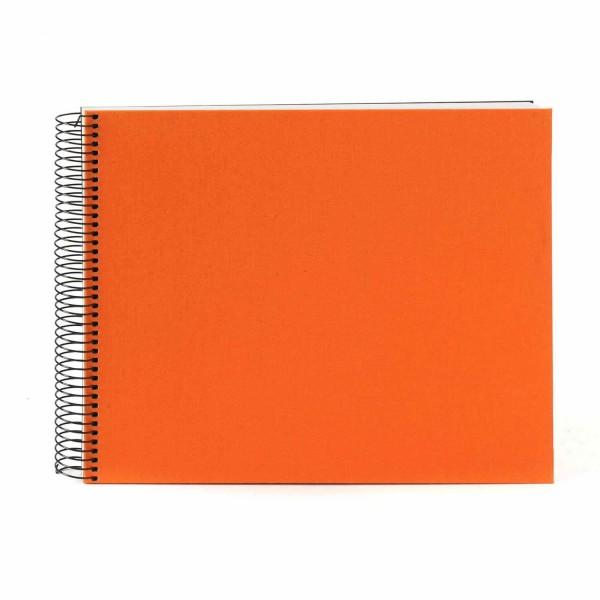Spiralalbum orange mit weißen Seiten