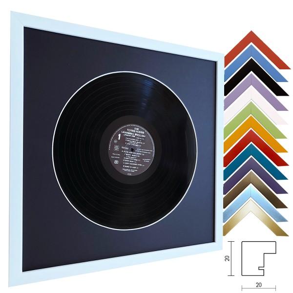 Holzrahmen für Schallplatten inkl. schwarzem Passepartout / Top Cube