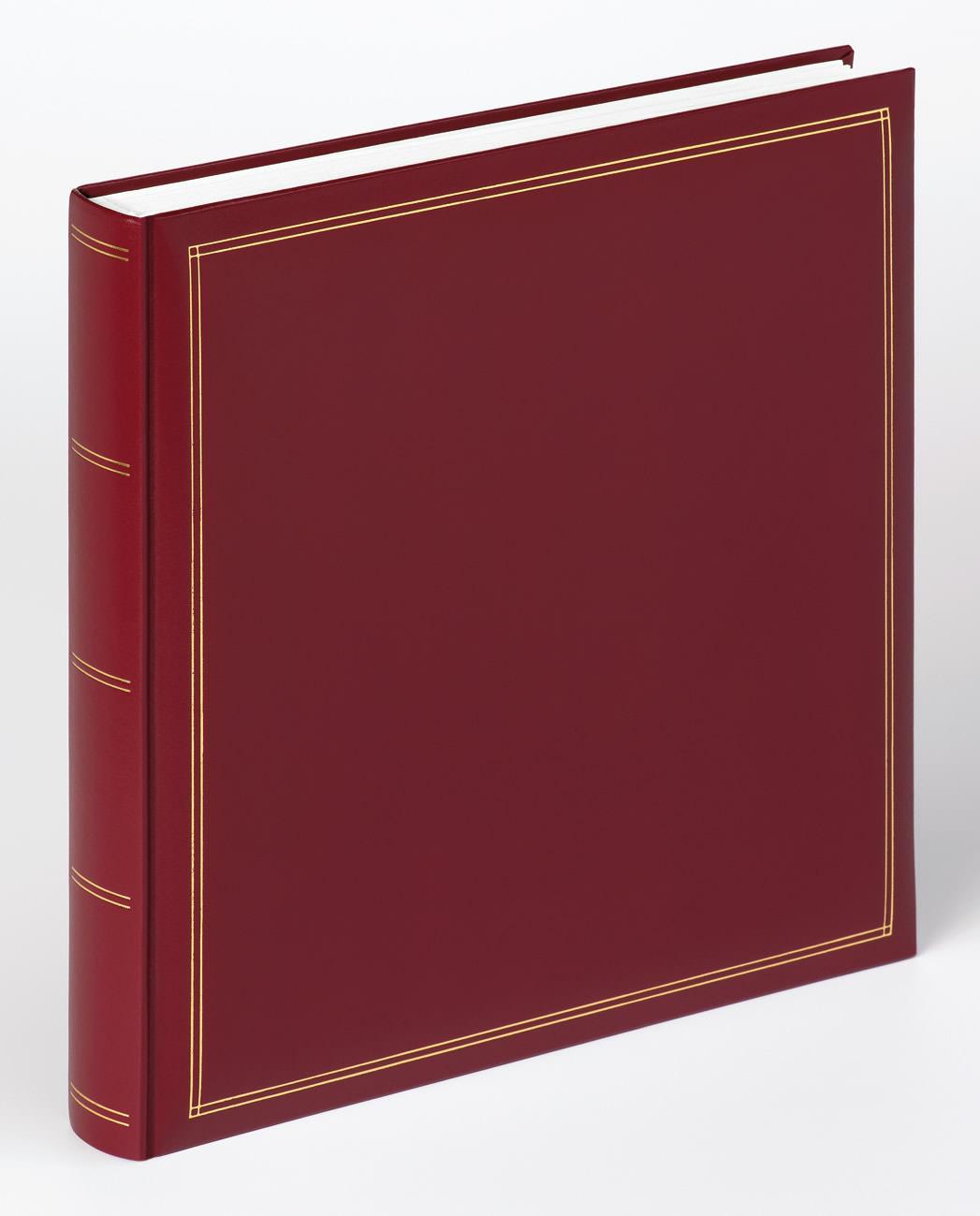 classicalbum monza rot 34x33 cm klassische fotoalben fotoalben bilderrahmen. Black Bedroom Furniture Sets. Home Design Ideas