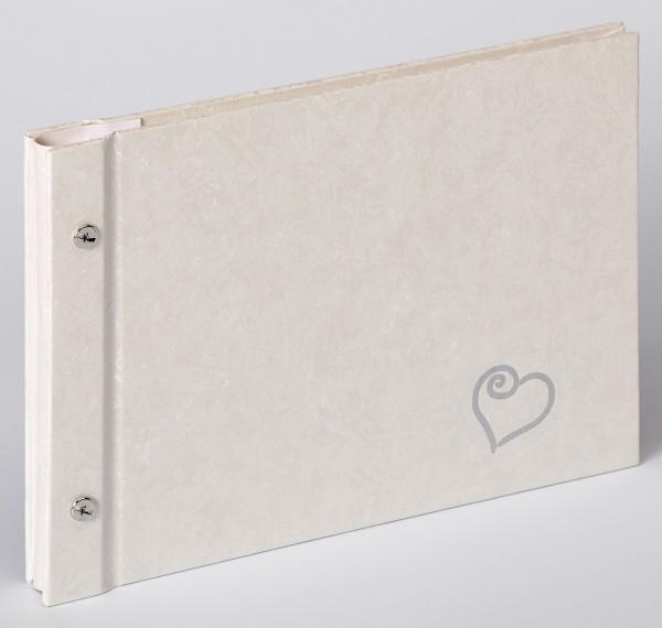 Buchschraubenalbum Sinfonia Wedding Forever, weiß, 26,5x19 cm