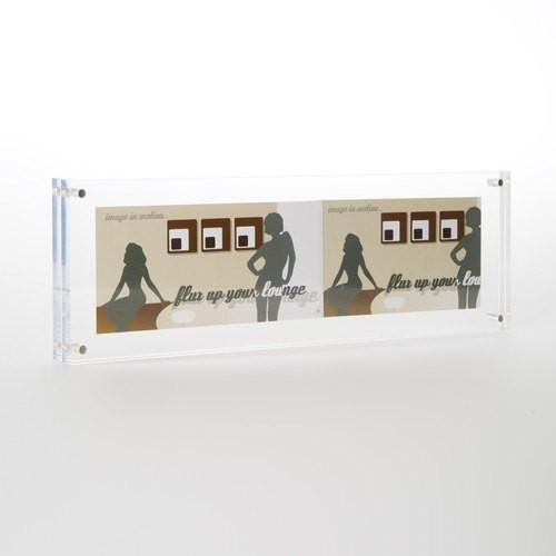 Acryl Bilderrahmen Flux-Frame in 10x30x2 cm
