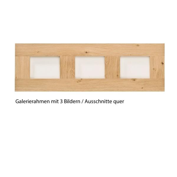 Holz-Bilderrahmen Eiche Galerierahmen 3 Ausschnitte
