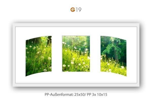 Galerie Passepartout G19 - 25x50/ PP 3x 10x15 cm
