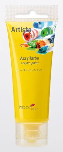 Acrylfarbe, gelb 1 Tube je 75 ml